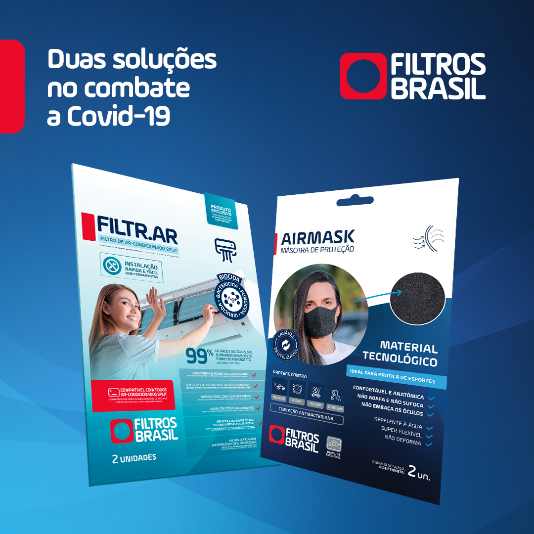 AIRMASK e Filtr.AR:  Duas soluções Filtros Brasil no combate a Covid-19